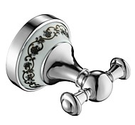 Bathroom Accessories Solid Brass Robe Hook,Brass Chrome Finish Bathroom Accessory
