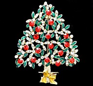 New Rhinestone Christmas Tree Broach Brooch Pin for Christmas Holiday