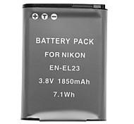 3.7v 1850mAh mini-dv batttery pour Nikon Coolpix P600 en-EL23