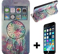 Simple Dreamcatcher Pattern PU Leather Full Body with Screen Protector Cover for iPhone 6 Plus