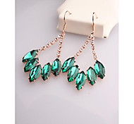 Fashion Korea Green Arc Horses Crystal Earrings for Women in Jewelry