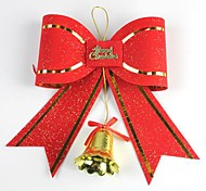 29*25.5CM Christmas Decoration Bow with Bell