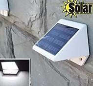 mlsled® 0.6W 4 liderada mini-alimentado cerca / muro / lâmpada solar do jardim à prova d'água - branco