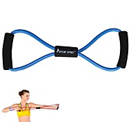 KYLIN SPORT™ Blue Resistance Band Tube Fitness Muscle Workout Exercise Yoga Cord Elastic 8 Type