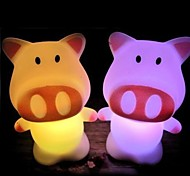 LED Discolour Pig Shaped Light Halloween Props (Random Color)