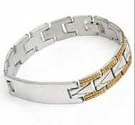 Men's Fashion Personality  Titanium Steel Gold Splicing Glaze Bracelets