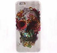 caja dura de la flor y el cráneo de diseño para el iphone 6