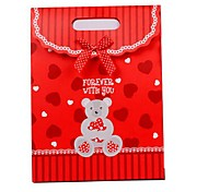 Coway 16.5*12.5*6 Cute Bear Wedding Candy Paper Party Flip Bag Gift Bags