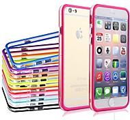 df Dual Mitte transparent bunte tpu + pc weiche Tasche für iPhone 6 (Farbe sortiert)