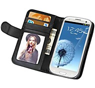 Soft Touch Wallet PU Leather Case for Samsung Galaxy S3 I9300