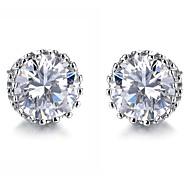 Fashion Jewelry  Crystal Stainless Steel Stud Earrings (1 Pair)