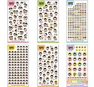 Chikdhood Theme PVC Scrapbooking Sticker(6 PCS)
