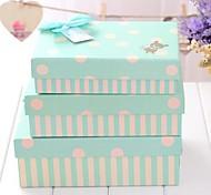 Lureme Lovely Bear  Dot Stripes Gift Box(3Pcs/Set)