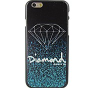 Glowing Diamand Design Pattern Hard Cover for iPhone 6