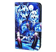 Wolf in Dream Catcher  Pattern Full Body Case with Card Holder  for Lumia 530