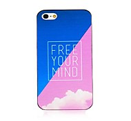 Free Your Mind Black Frame Back Case for iPhone 4/4S