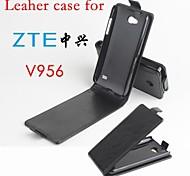 vendita calda cassa di cuoio dell'unità di elaborazione del cuoio di vibrazione 100% per ZTE v956 su e giù per smartphone a 3 colori