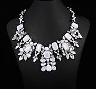 luxo cristal colar de moda feminina