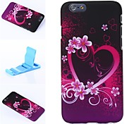 Beautiful Heart of Flowers Pattern Plastic Hard Cover for iPhone 6