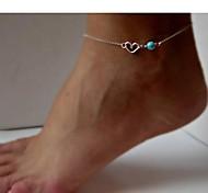Shixin® Fashion  Women's Alloy Anklets (20cm*1cm*0.5cm) (Silver,Golden)(1 Pc)