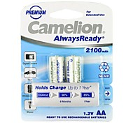 Camelion AlwaysReady 2100mAh Low Self-discharge Ni-MH AA Rechargeable Battery (2pcs)