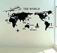 adesivos de parede adesivos de parede, grandes mundo mapa pvc adesivos de parede