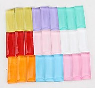 Z&X®  5*15mm 100 PCS Fashion DIY Colorful Rectangle Glass Flatback(Random Color)