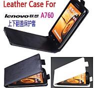moda couro tampa da tampa do caso para Lenovo A760 lfet para smartphone ideal 3 cores