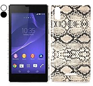 Snake Pattern Leather Coated Hard Case for Sony Xperia T3 M50W D5102 D5103 D5106(Assorted Colors)