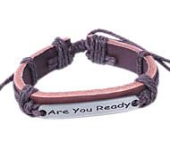 2015 Fashion Alloy Leather Bracelet