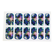 Quality 3D Glitter Nail Polish Stickers With Fireworks Pattern Full Cover