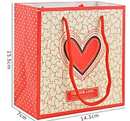 Lureme Love Heart  Pattern Gift Bag(1Pc)