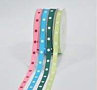 3/8 Inch Polyester Rib Belt Printing Ink Dot One Dot Ribbon- 25 Yards Per Roll (More Colors)