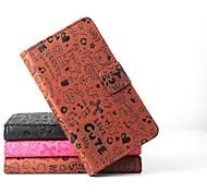 vendita calda cassa di cuoio dell'unità di elaborazione del cuoio di vibrazione 100% per Philips w6618 con la magia pu smartphone a 3 colori