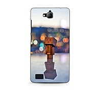 In the Lamp Light Wooden Man Design Hard Case for HuaWei Honor 3C