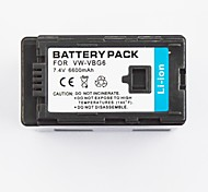 Batteria videoregistratore 6600mAh vw-VBG6 applicabile per Panasonic AG-hmc71mc ag-hmc153mc ag-hmc43mc ag-hmc73mc ag-hmc155