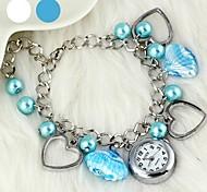 herzförmige Perle Kristall Glas Armbanduhr der modernen Frauen (1pc) (verschiedene Farben)
