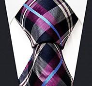 мужские случайные проверка многоцветный узор шелковый галстук