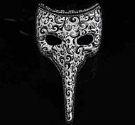 Black and White Long Nose Man's Venetian Mask