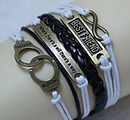 Vintage Handcuffs 8 18cm Unisex  Leather Wrap Bracelet(1 Pc)