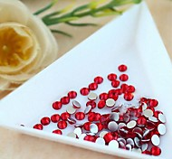 2.4*2.5mm (Red) Flat Back Rhinestones (Phone Beauty) Nail bedazzle 100 pieces
