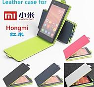 venda quente 100% caso de couro pu de couro da aleta colorido para Xiaomi redrice cima e para baixo do smartphone 4 cores