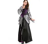 Elegant Queen Negro Vinatge Deluxe Costume Halloween Ropa Mujeres