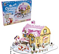 The Christmas Gift Smart House Sweet Cottage 3D Puzzles(34PCS)