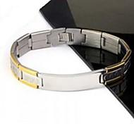 Men's Fashion Personality Titanium Steel Golden Splicing Bracelets