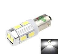 BA9S 5W 10-LED 450LM 6500K White Light LED for Car Backup Light(DC 12-24V)