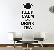 jiubai® manter a calma parede citação autocolante decalque, 43 * 90cm