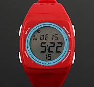 Women's Fashionable Square Round-Shaped Dial Digital LED Plastic Watches (1Pc)