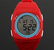 digital de marcação em forma de quadrado redondo moda feminina levou relógios de plástico (1pc)