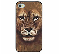 Powerful Gold Fur Lion Pattern PC Hard Back Cover Case for iPhone 4/4S